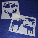 "Moose Stencils -Mylar 2 Pieces of 14 Mil 8"" X 10"" - Painting /Crafts/ Templates"