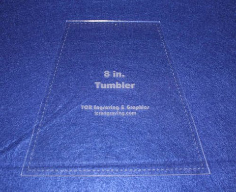 "8"" Tumbler Quilt Template - With Seam Allowance -Clear 1/8"" Acrylic"