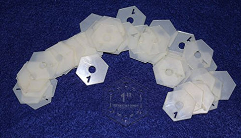 "Mylar 1"" Hexagon 51 Piece Set - (Each side measures 1/2 Inch)"