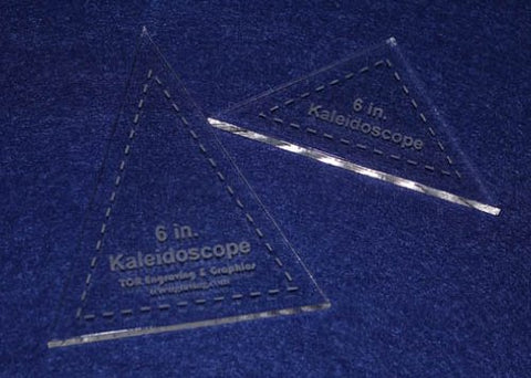 "2 Pc Kaleidoscope Set 6"" ~1/4"" for 6"" Finished Square W/seam Allowance - Template"