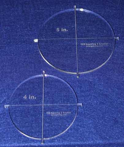 "2 Piece Crafting Circle Set w/tabs. 4"", 5"" ~1/4"" Acrylic - Template"