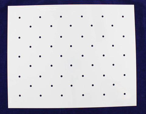 "Dot Field 14.0"" x 17.3"" -14 mil Mylar- Painting /Crafts/ Templates/polka"