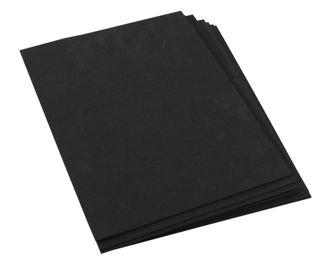 "Craft Foam -9"" x 12"" Sheets-Black-10 Pack- 2mm thick"