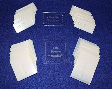 "Mylar 2"" X 1"" Rectangle- 2"" Square 102 Piece Set-quilting/sewing Templates"