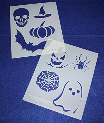 "Mylar 2 Pieces of 14 Mil 8"" X 10"" Halloween Stencils- Painting /Crafts/ Templates"