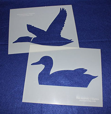 "Large Duck 2 Piece Stencil Set 14 Mil 8"" X 10"" Painting /Crafts/ Templates"