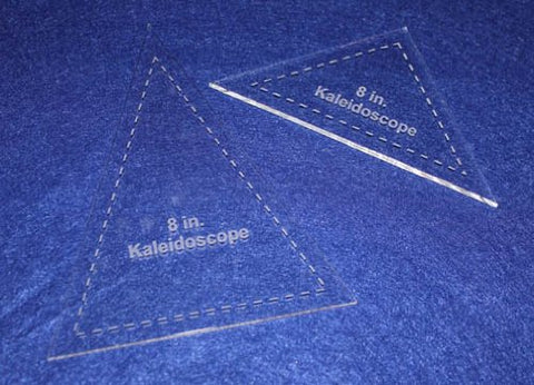 "2 Pc Kaleidoscope Set 8"" 1/8"" for 8"" Finished Square W/seam Allowance - Template"