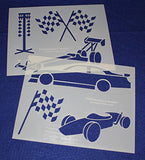 "Racing Stencils Mylar 2 Pieces of 14 Mil 8"" X 10"" - Painting /Crafts/ Templates"