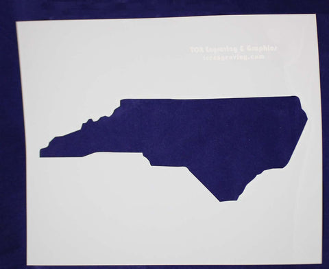 State of North Carolina Stencil 14 Mil Large - Painting /Crafts/ Templates