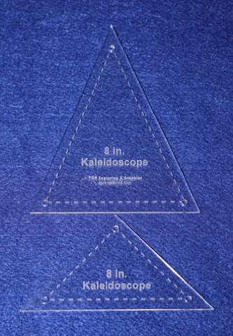 "2 Pc Kaleidoscope Set 8"" 1/8"" for 8"" Finished Square W/holes & Seam Allowance - Template"