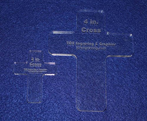 Laser Cut Quilt Templates- 2 Piece Christian Cross Set - Clear Acrylic ~ 1/4""