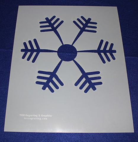 Snowflake Stencil Mylar 14 Mil Ex Large - Painting /Crafts/ Templates