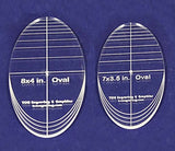 "Oval Quilt Templates 2 Piece Set. 7""- 8"" - Multi Purpose 1/4"""