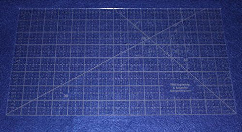 "15"" x 8"" Ruler - Clear Acrylic - Quilting/Sewing/Embroidery - Template 1/8"""