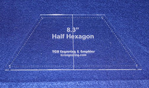 "Half Hexagon 8.3"" Template"