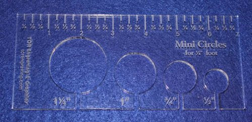 4 Mini Circles Template For 1 4 Quot Foot Clear With Ruler 1 4
