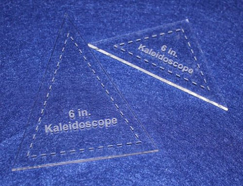 "2 Pc Kaleidoscope Set - 1/8"" for 6"" Finished Square W/seam Allowance - Template"