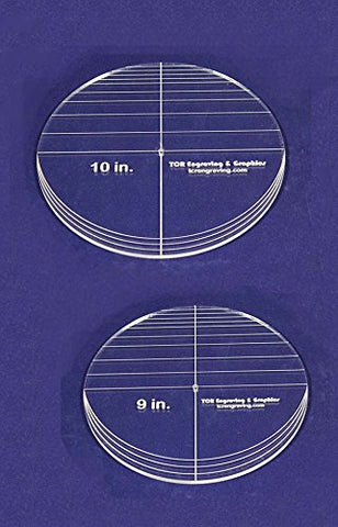 "2 Piece Circle Set - No Seam 9"" - 10"" ~ 1/4"" Thick - Long Arm -Multi Use - Template"