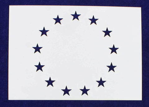 13 Star Stencil-4.875 x 6.88 Inches G-Spec Painting/Crafts/Templates