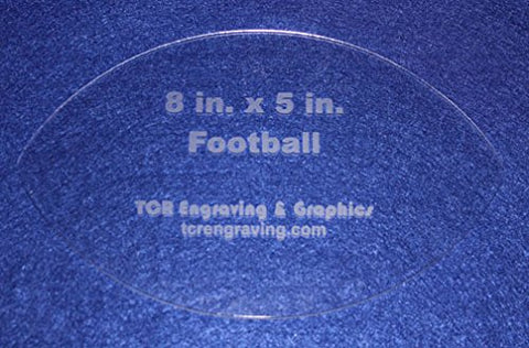 "Football Shaped Quilting and Sewing Template- 1/8"" or 1/4"""