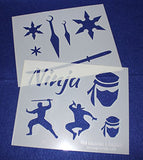 "Ninja Stencils -Mylar 2 Pieces of 14 Mil 8"" X 10"" - Painting /Crafts/ Templates"