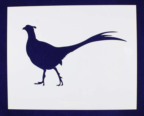 Large Standing Pheasant Stencil -1 pc -Mylar 14mil - Painting /Crafts/ Templates