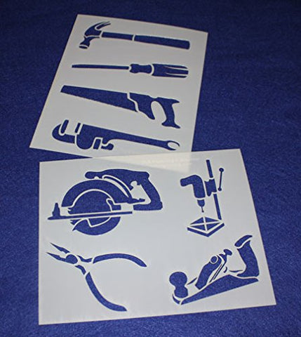 "Mylar 2 Pieces of 14 Mil 8"" X 10"" Tools Stencils- Painting /Crafts/ Templates"