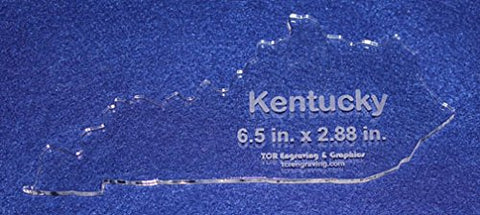 "State of Kentucky Template 6.5"" X 2.88"" - Clear ~1/4"" Thick Acrylic"