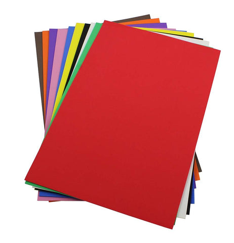 Craft Foam Sheets--12 x 18 Inches - Asst. Colors Set 1 - 10 Sheets-2 MM Thick