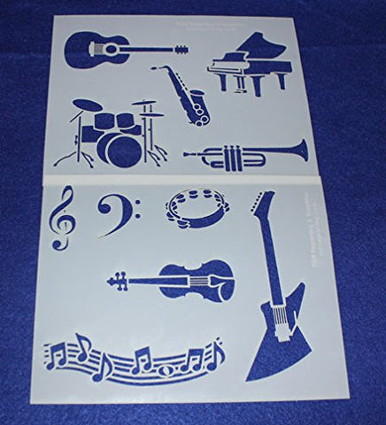 "Mylar 2 Pieces of 14 Mil 8"" X 10"" Music Stencils- Painting /Crafts/ Templates"