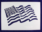 Us Flag Stencils-Wavy-Mylar 14 mil- Painting /Crafts/ Templates