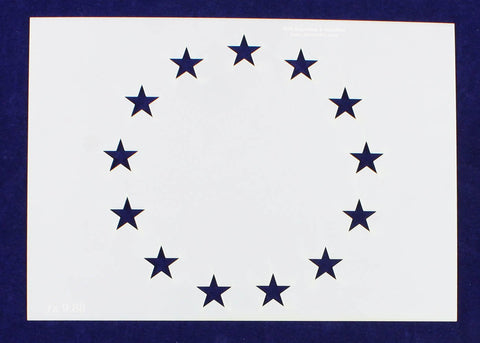 "13 Star Field Stencil 14 Mil-G-Spec -9.88""L - Painting /Crafts"