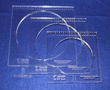 "3 Piece Inside Circle Set W/rulers 3/8"" Thick - Long Arm- For 1/2"" Foot"