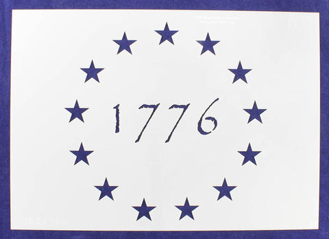 "13 Star Revolutionary Field (1776) Stencil 14 Mil -10.5""H x 14.8""W - Painting /Crafts/ Templates"