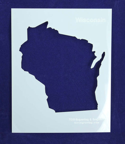 State of Wisconsin Stencil 14 Mil - Painting /Crafts/ Templates