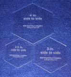 "3 Piece Set 1/8"" Hexagon Sizes. You Get One of Each, 2 1/2"", 3"", 4"" - Template"