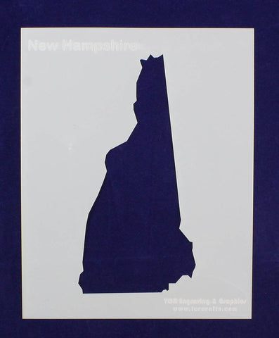State of New Hampshire Stencil 14 Mil Mylar - Painting /Crafts/ Templates