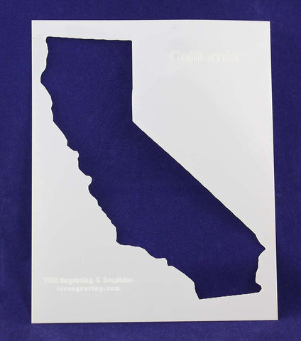 "State of California Stencil 14 Mil 8"" X 10"" Painting /Crafts/ Templates"