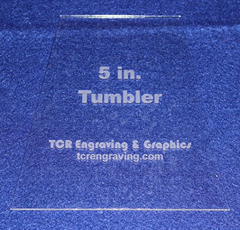 "5"" Tumbler Quilt Template - NO Seam Allowance -Clear 1/8"" Acrylic"