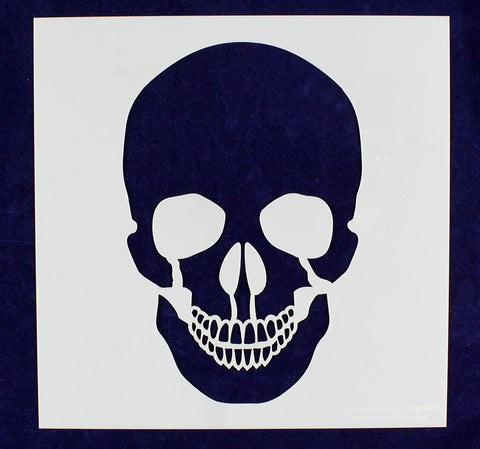 "Large Skull Stencil 14 Mil 12"" X 12"" Painting /Crafts/ Templates"