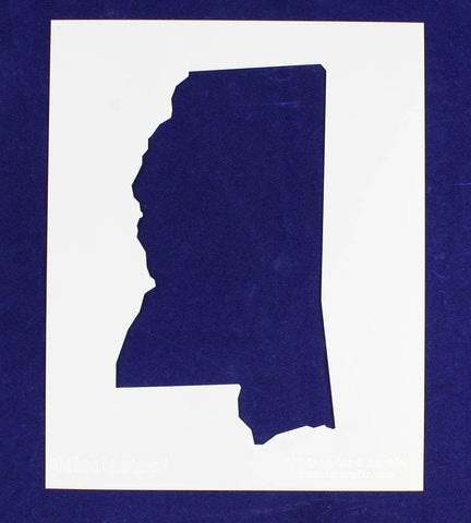 "State of Mississippi Stencil 14 Mil 8"" X 10"" Painting /Crafts/ Templates"