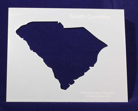 "State of South Carolina Stencil 14 Mil 8"" X 10"" Painting /Crafts/ Templates"