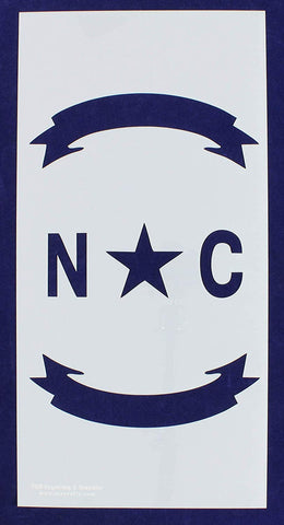 "North Carolina Union Stencil 14 Mil -10"" x 20"" - Painting /Crafts/ Templates"