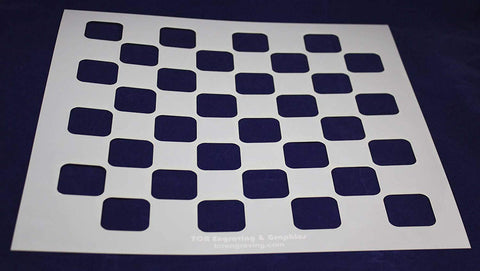 "Chess/Checkerboard Stencil 14 Mil -15"" X 15"" - Painting /Crafts/ Templates"