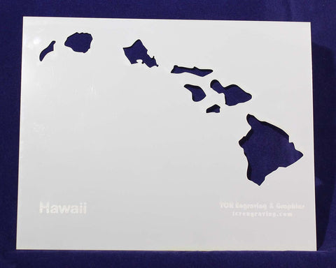 "State of Hawaii Stencil 14 Mil 8"" X 10"" Painting /Crafts/ Templates"