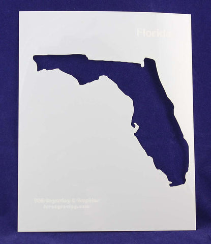 "State of Florida Stencil 14 Mil 8"" X 10"" Painting /Crafts/ Templates"