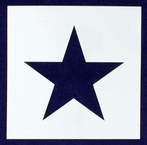 "Single Star Stencil 14 Mil -9"" X 9"" Overall - Painting /Crafts/ Templates"