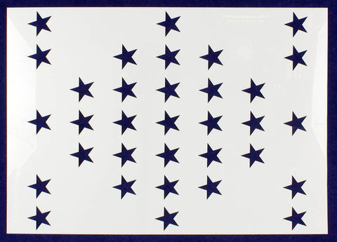 "33 Star Field ""Fort Sumter"" Stencil 14 Mil -US G Spec 10.5 x 14.82"" Long Star Field- Painting /Crafts/ Templates"