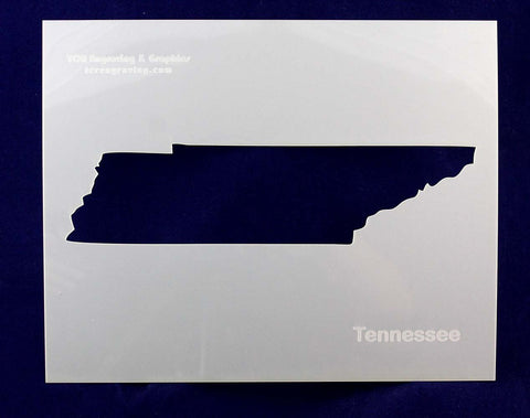 "State of Tennessee Stencil 14 Mil 8"" X 10"" Painting /Crafts/ Templates"