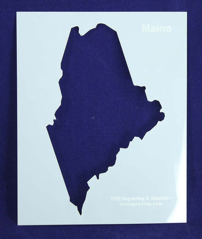 State of Maine Stencil 14 Mil Mylar - Painting /Crafts/ Templates